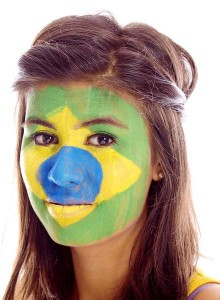 maquillage supporter Brésilien